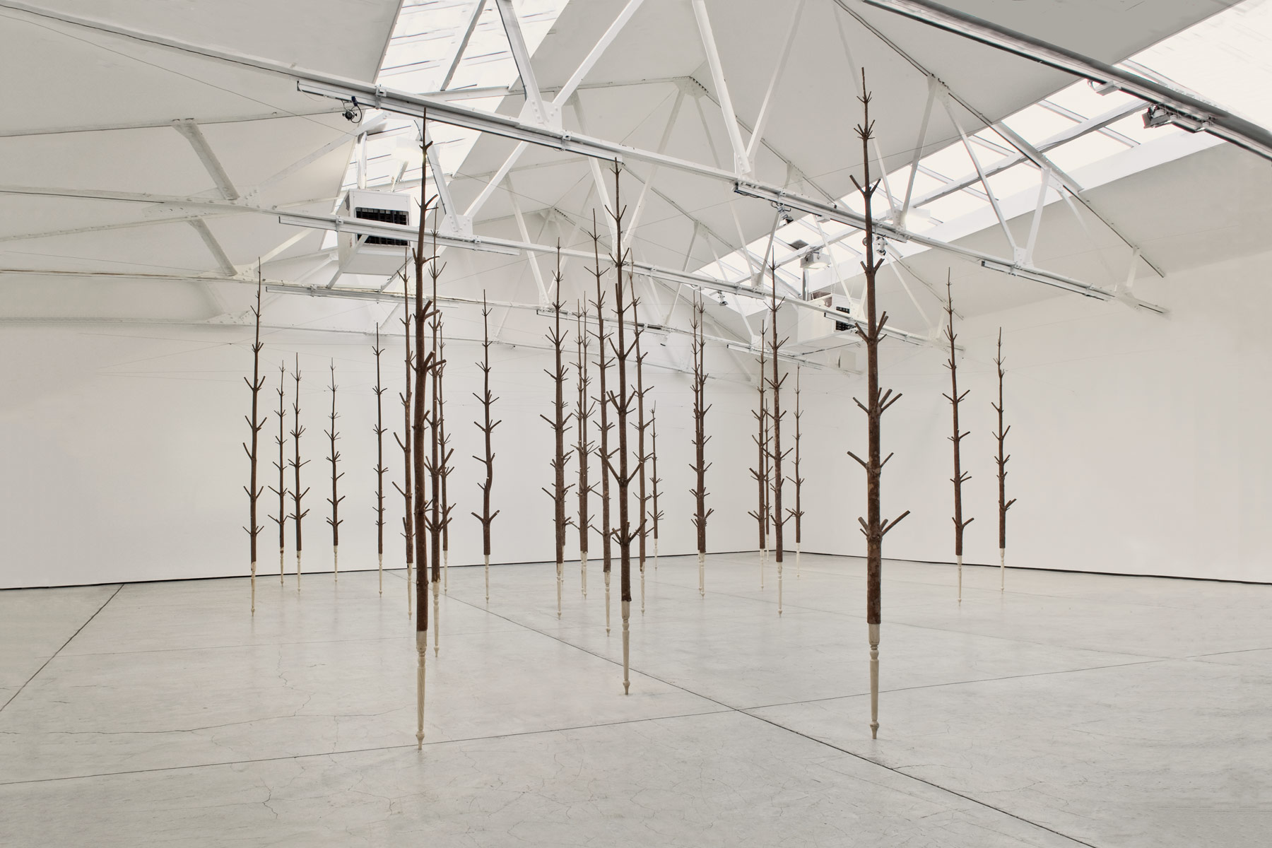 Alastair Mackie|Copse|2011|wood|tree|wood turning|sculpture