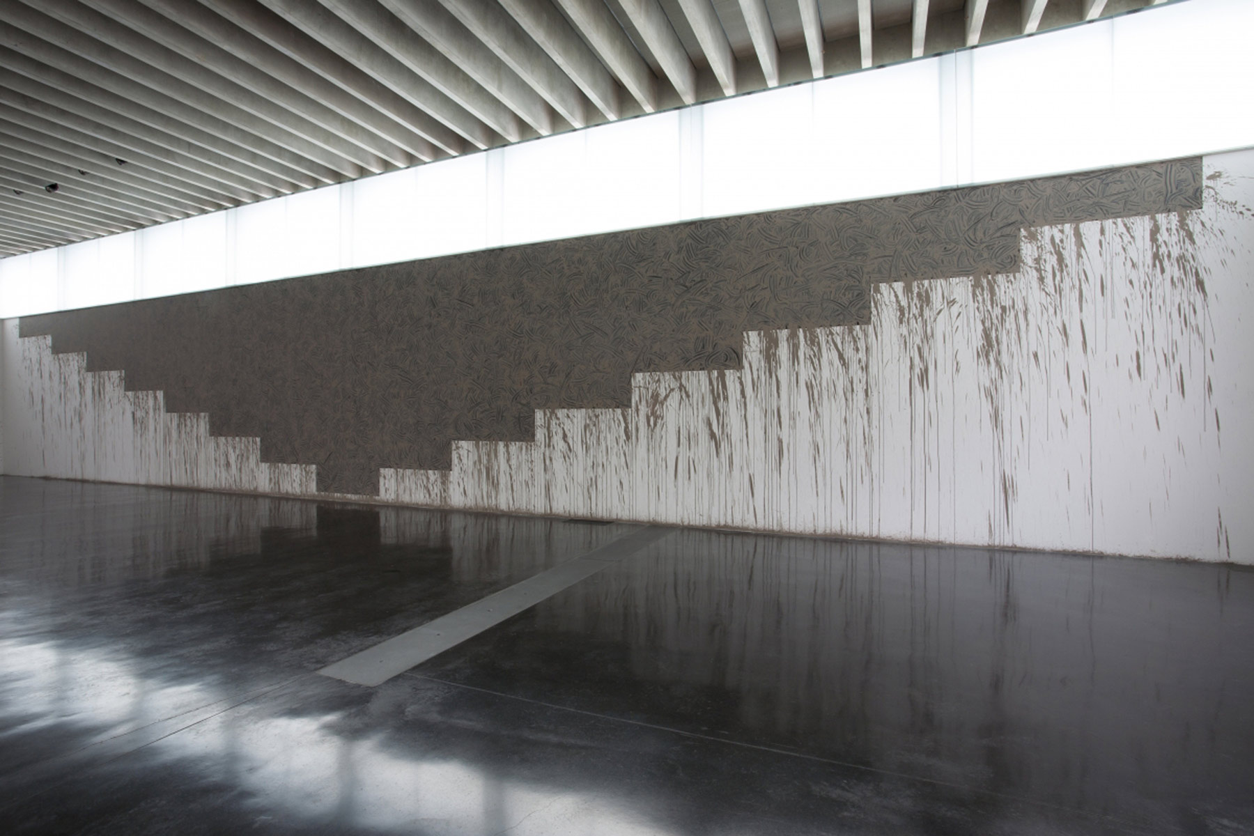 Alastair Mackie|Mud Form|2015|mud|sculpture|Black Country Rhythms|Richard Long|The New Art Gallery|Walsall