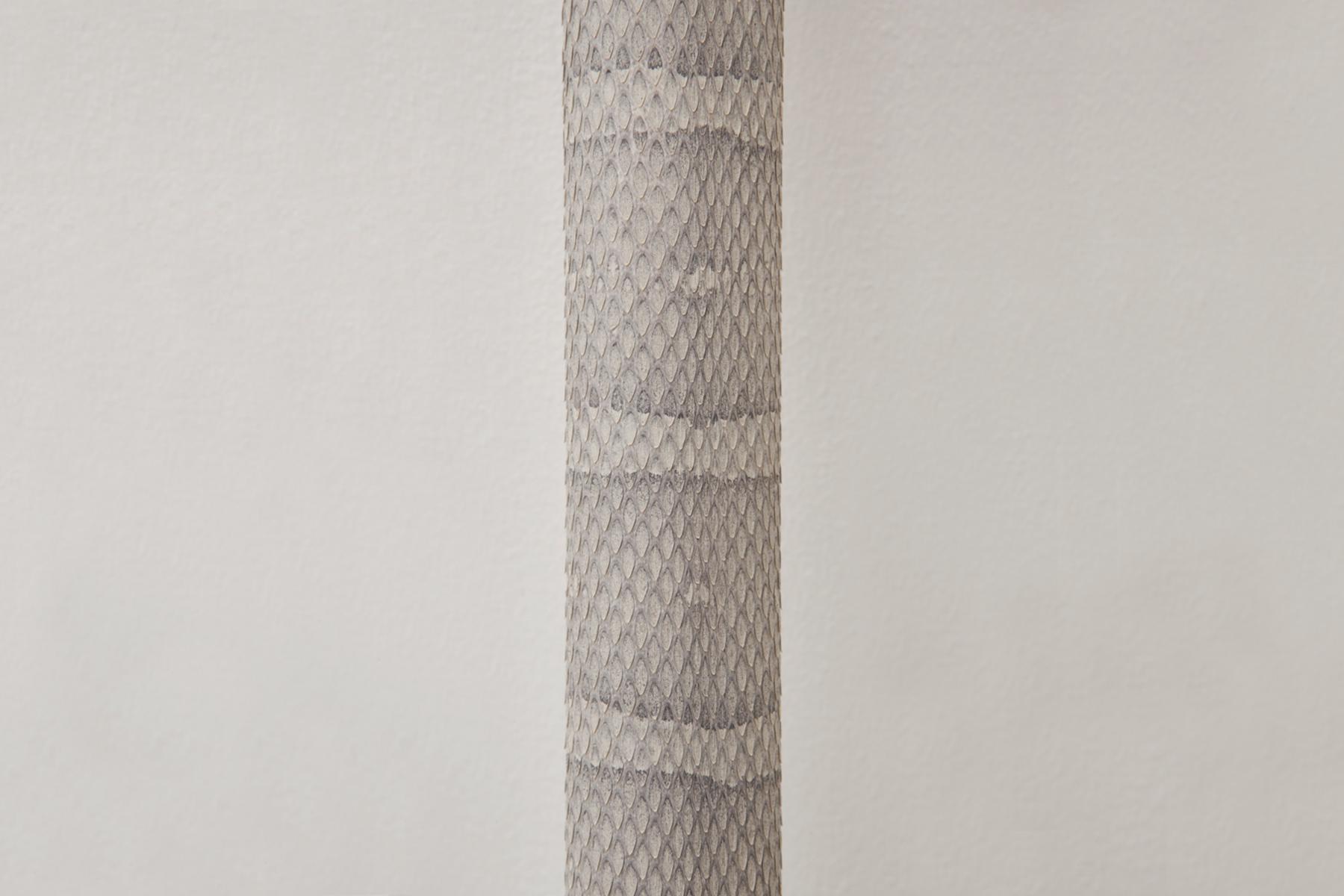 Alastair Mackie|A.C.R.O.N.Y.M.|2013|snake|skin|aluminium|sculpture